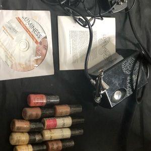 Luminous makeup air brush kit